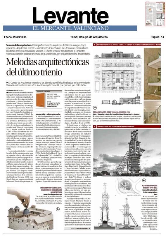 En los medios javier dominguez arquitecto for Cajamar oficinas valencia