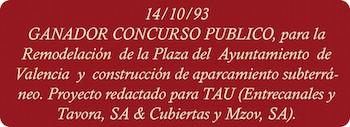 concurso plaza del ayuntamiento de valencia