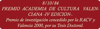 Premio academia de la cultura valenciana