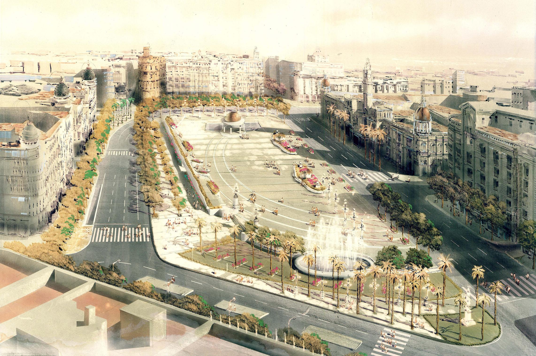 Remodelacion de la plaza del ayuntamiento de valencia for Proyectos interiorismo valencia